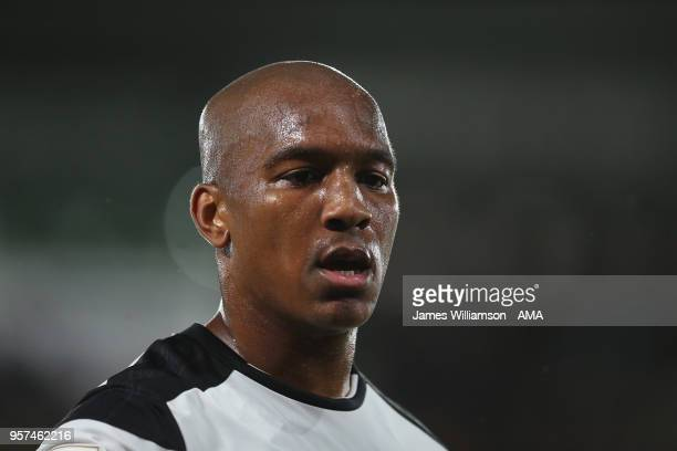 Andre Wisdom of Derby County during the Sky Bet Championship Play Off Semi FinalFirst Leg match between Derby County and Fulham at iPro Stadium on...