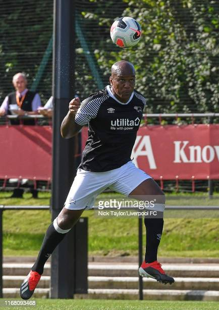 Andre Wisdom of Derby County in action during the PL2 game at The Kirkby Academy on September 14 2019 in Kirkby England