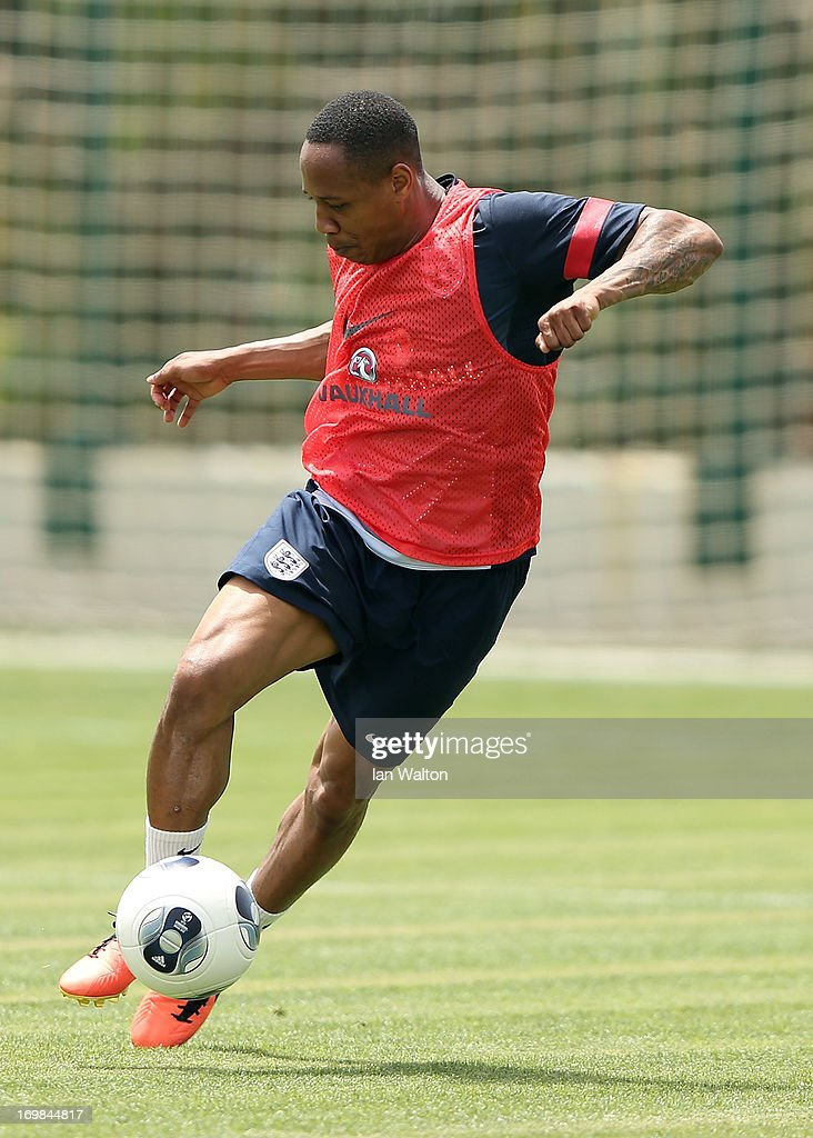 Andre Wisdom of England attends an England U21's Training session on June 3, 2013 in Netanya, Israel.