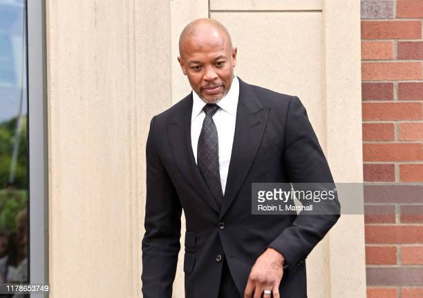 Andre Young aka Dr Dre attends dedication ceremony at USC Iovine and Young Hall on October 02 2019 in Los Angeles California