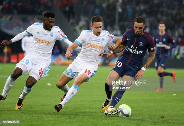 Andre Zambo Anguissa and Florian Thauvin of OM Layvin Kursawa of PSG during the French Ligue 1 match between Olympique de Marseille and Paris Saint...
