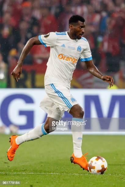 Andre Zambo Anguissa of Marseille controls the ball during the UEFA Europa League Final between Olympique de Marseille and Club Atletico de Madrid at...