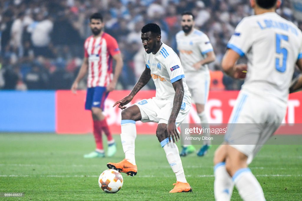 Andre Zambo Anguissa of Marseille during the Europa League Final match between Marseille and Atletico Madrid at Groupama Stadium on May 16, 2018 in Lyon, France.