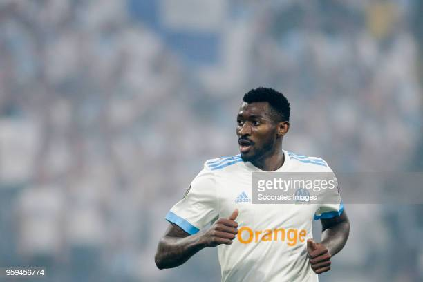 Andre Zambo Anguissa of Olympique Marseille during the UEFA Europa League match between Olympique Marseille v Atletico Madrid at the Parc Olympique...