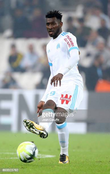 Andre Zambo Anguissa of OM during the French Ligue 1 match between Olympique de Marseille and Toulouse FC at Stade Velodrome on September 24 2017 in...
