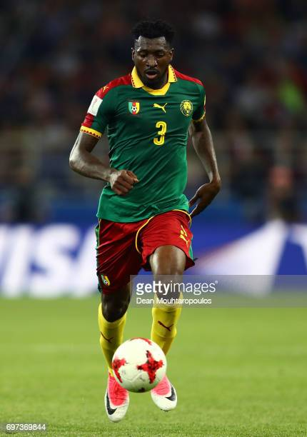 Andre Zambo of Cameroon in action during the FIFA Confederations Cup Russia 2017 Group B match between Cameroon and Chile at Spartak Stadium on June...