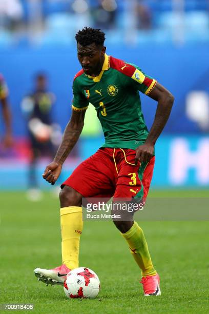 Andre Zambo of Cameroon in action during the FIFA Confederations Cup Russia 2017 Group B match between Cameroon and Australia at Saint Petersburg...