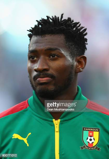 Andre Zambo of Cameroon lines up prior to the FIFA Confederations Cup Russia 2017 Group B match between Germany and Cameroon at Fisht Olympic Stadium...