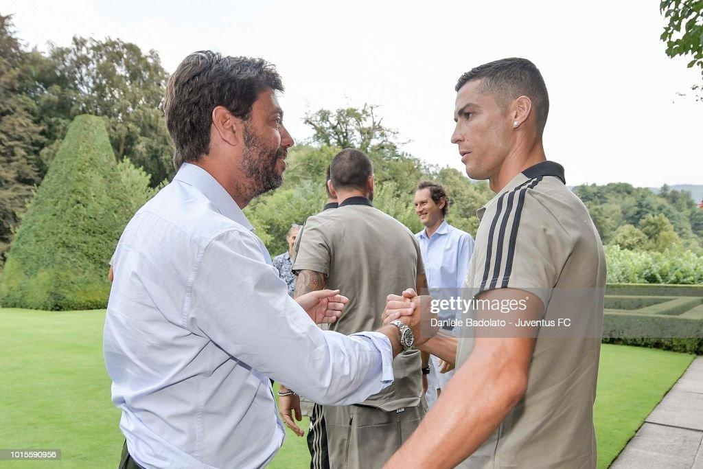 Andrea Agnelli And Cristiano Ronaldo During The Pre Season