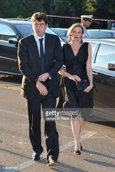 Andrea Agnelli and Emma Winter arrive at Rupert Murdoch ...