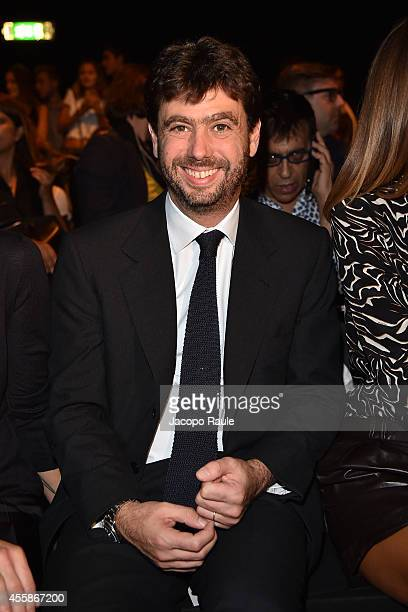 Andrea Agnelli attends Trussardi Fashion Show during Milan Fashion Week Womenswear Spring/Summer 2015 on September 21, 2014 in Milan, Italy.