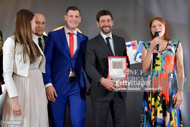 Andrea Agnelli during the Cuore Bianco Nero dinner for Candiolo Onlus on May 14, 2019 in Gravellona Toce, Italy.