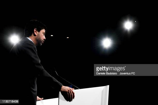 Andrea Agnelli during the Seminar on Second teams at Allianz Stadium on March 15, 2019 in Turin, Italy.
