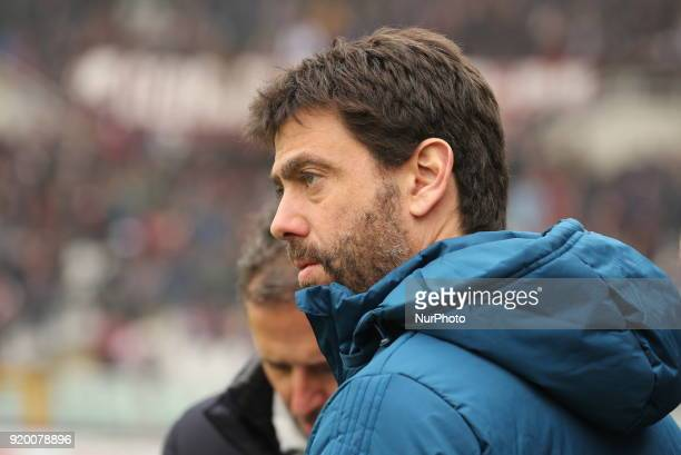 Andrea Agnelli president of Juventus FC before the Serie A football match between Torino FC and Juventus FC at Olympic Grande Torino Stadium on 18...