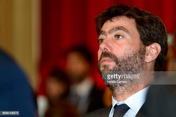 Andrea Agnelli president of Juventus FC looks on during the award ceremony of the National Football Literature Prize
