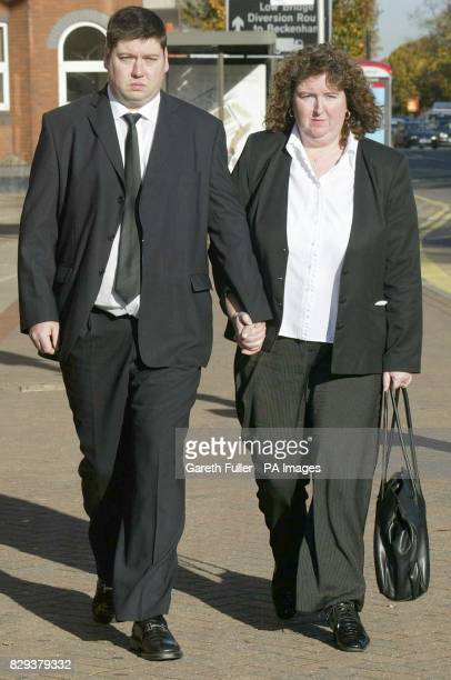 Andrea and Paul Gallagher arrive outside Bromley Magistrates Court in Kent today before the inquest into their 2 yearold son Paul's death during a...