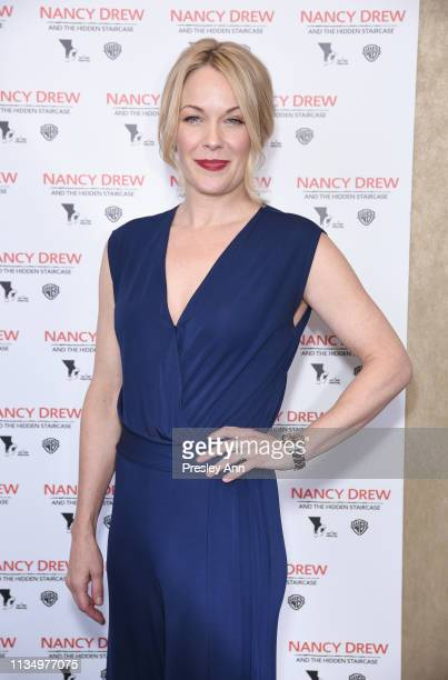 Andrea Anders attends the red carpet premiere of 'Nancy Drew and the Hidden Staircase' at AMC Century City 15 on March 10 2019 in Century City...