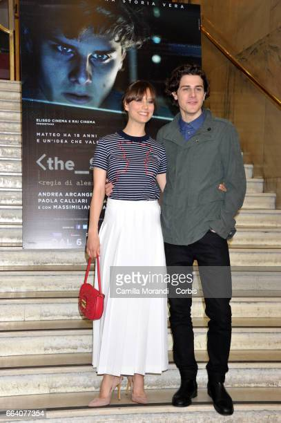 Andrea Arcangeli and Paola Calliari attend a photocall for 'The Startup' on April 3 2017 in Rome Italy