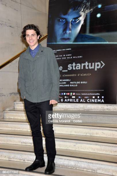 Andrea Arcangeli attends a photocall for 'The Startup' on April 3 2017 in Rome Italy