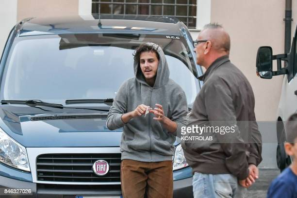 Andrea Arcangeli in Civita Calabria on the second set of Danny Boyle's Trust movie with Donald Sutherland and Hilary Swank in the cast selected by...