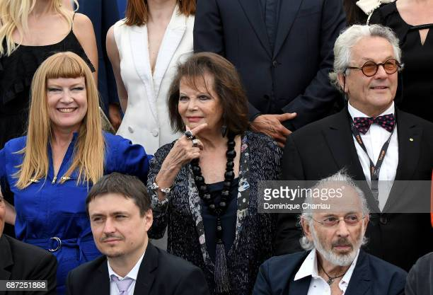 Andrea Arnold Claudia Cardinale George Miller Cristian Mungiu and Jerry Schatzberg attend the 70th Anniversary photocall during the 70th annual...