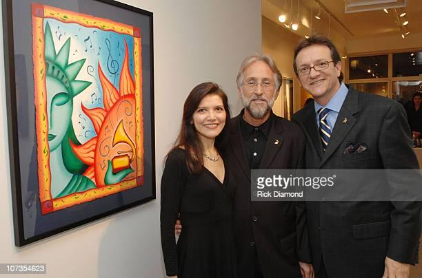 Andrea Arroyo Neil Portnow President The Grammys and Gabriel Abaroa President The Latin Grammys