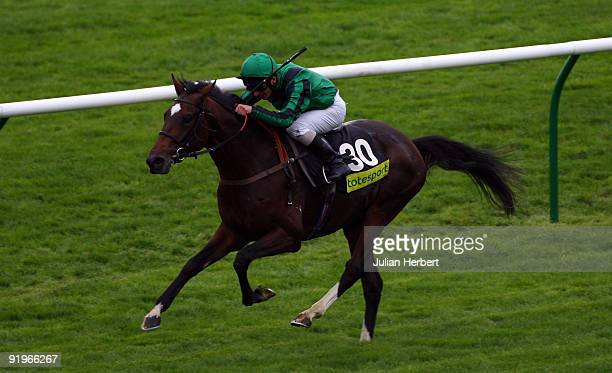 Andrea Atzeni and Darley Sun score an easy victory in The totesportcom Cesarewitch Race run at Newmarket Racecourse on October 17 2009 in Newmarket...
