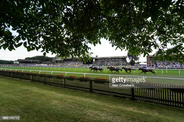 Andrea Atzeni riding Ashington win The England V Belgium Betting At 188Bet Handicap Stakes at Newmarket Racecourse on June 28 2018 in Newmarket...