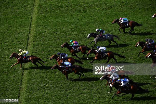 Andrea Atzeni riding Cape Byron wins The Wokingham Stakes on day five of Royal Ascot at Ascot Racecourse on June 22, 2019 in Ascot, England.