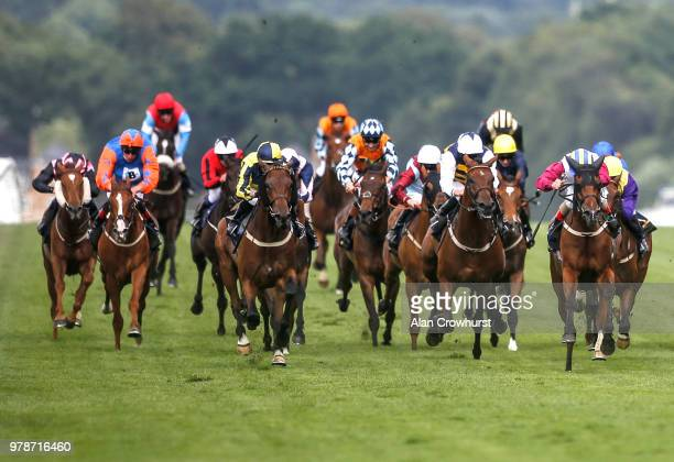 Andrea Atzeni riding Lagostovegas win The Ascot Stakes on day 1 of Royal Ascot at Ascot Racecourse on June 19 2018 in Ascot England