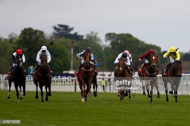Andrea Atzeni riding Secret Gesture win The Betfred Middleton Stakes at York racecourse on May 14 2015 in York England