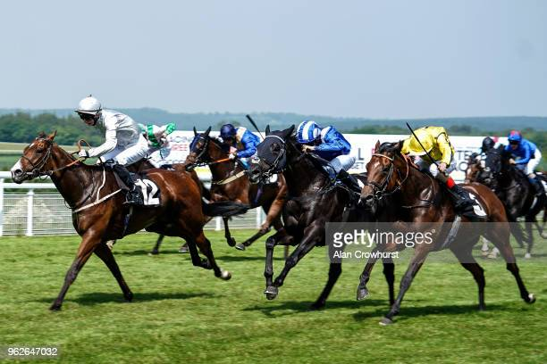 Andrea Atzeni riding Society Power win The Netbet Sport Handicap Stakes at Goodwood Racecourse on May 26 2018 in Chichester United Kingdom