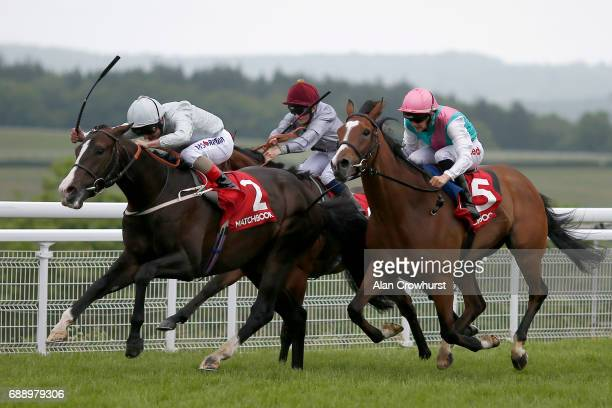 Andrea Atzeni riding Sutter County win The Winners Are Welcome At Matchbook Handicap Stakes at Goodwood racecourse on May 27 2017 in Chichester...