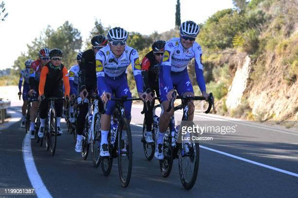 Andrea Bagioli of Italy and Deceuninck - Quick-Step Team / Pieter Serry of Belgium and Deceuninck - Quick-Step Team / during the Team...