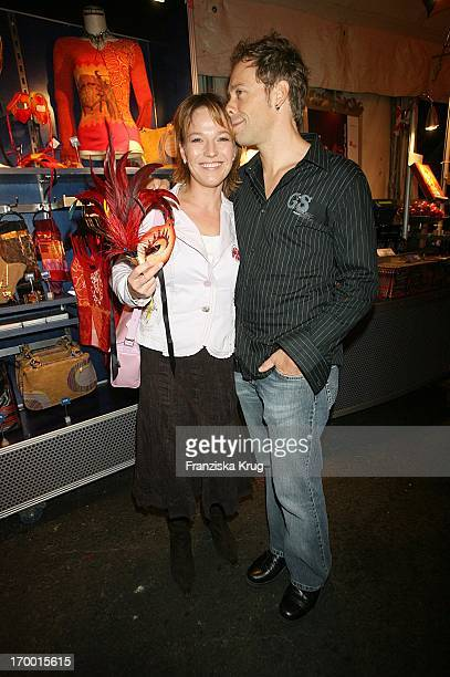 Andrea Ballschuh And friend Jem Apai at The Dralion premiere from Cirque Du Soleil in Berlin 300806