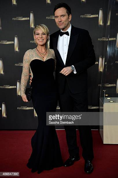 Andrea Ballschuh and Ingo Nommsen arrive at the 'Deutscher Fernsehpreis 2014' at Coloneum on October 2 2014 in Cologne Germany