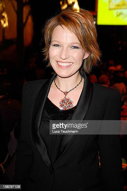 Andrea Ballschuh attends the opening 'Bennets Abenteuer Beginnt' Musical Premiere at the at Estrel Convention Center on February 5 2012 in Berlin...