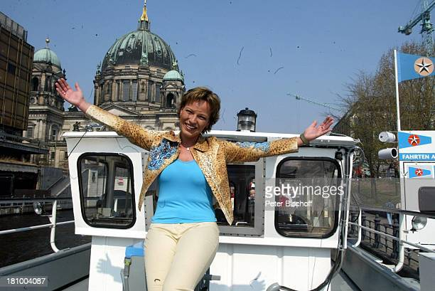 "Andrea Ballschuh, Berlin, Schiff ""Berolina"", , Schauspielerin,"