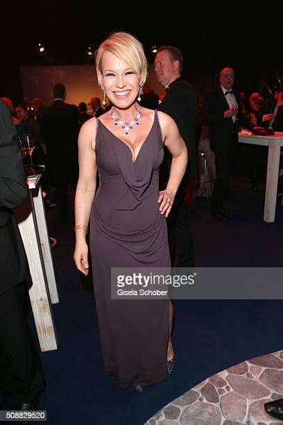 Andrea Ballschuh during the after show party of the Goldene Kamera 2016 on February 6 2016 in Hamburg Germany