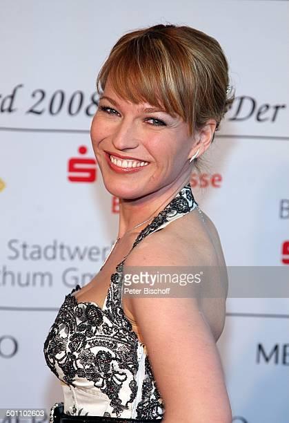 Andrea Ballschuh Porträt Gala Verleihung 'Steiger Award 2008' Bochum NordrheinWestfalen Deutschland Europa 'Jahrhunderthalle' roter Teppich...