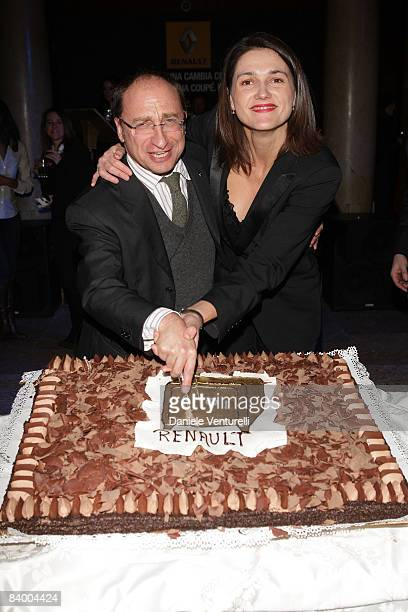 Andrea Baracco and Elisabeth LericheBally attend the New Renault Laguna Coupe party at Le Banque on December 11 2008 in Milan Italy