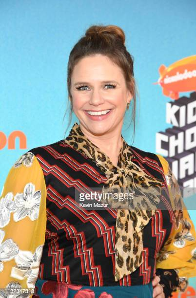 Andrea Barber attends Nickelodeon's 2019 Kids' Choice Awards at Galen Center on March 23 2019 in Los Angeles California