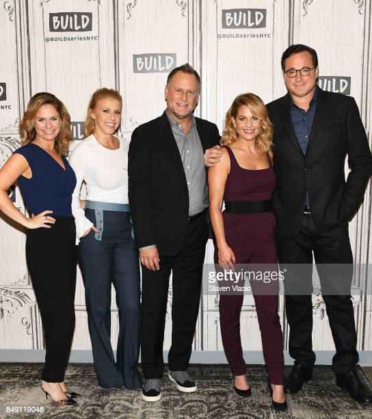 Andrea Barber Jodi Sweetin Dave Coulier Candace Cameron Bure and Bob Saget visit Build to chat about the new season of 'Fuller House' at Build Studio...