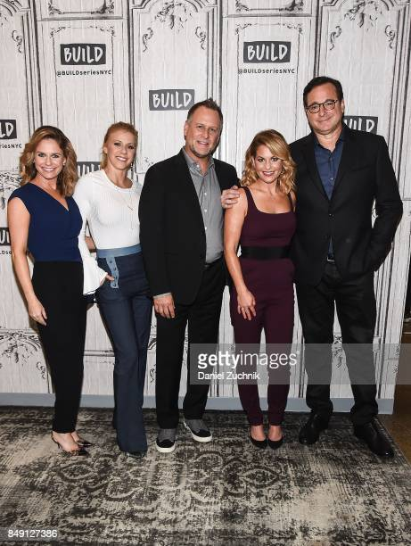 Andrea Barber Jodi Sweetin Dave Coulier Candice Cameron Bure and Bob Saget attend the Build Series to discuss the new season of 'Fuller House' at...
