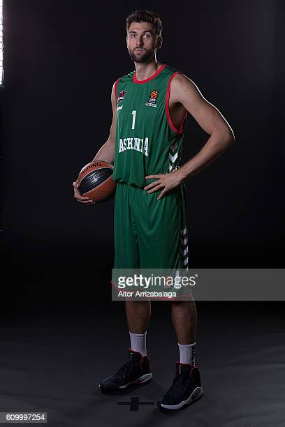Andrea Bargnani #1 of Baskonia Vitoria Gasteiz poses during the 2016/2017 Turkish Airlines EuroLeague Media Day at Fernando Buesa Arena on September...