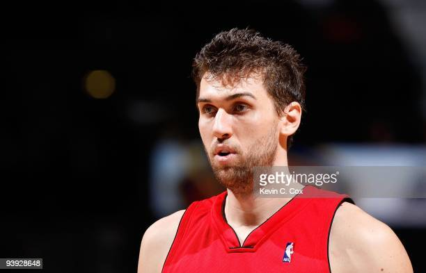 Andrea Bargnani of the Toronto Raptors against the Atlanta Hawks at Philips Arena on December 2 2009 in Atlanta Georgia NOTE TO USER User expressly...