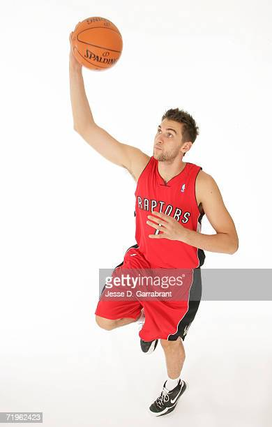 Andrea Bargnani of the Toronto Raptors poses for a portrait on September 14 2006 at the IBM Palisades Executive Conference Center in Palisades New...