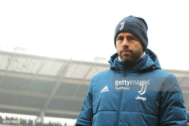 Andrea Barzagli before the Serie A football match between Torino FC and Juventus FC at Olympic Grande Torino Stadium on 18 February 2018 in Turin...