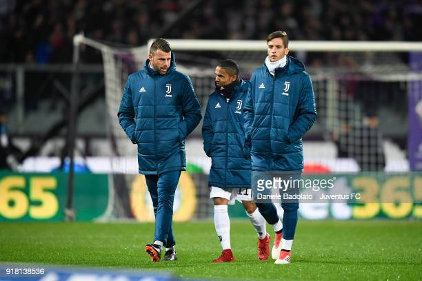 Andrea Barzagli Douglas Costa and Rodrigo Bentancur during the serie A match between ACF Fiorentina and Juventus at Stadio Artemio Franchi on...