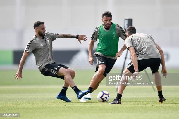 Andrea Barzagli during a Juventus training session at Juventus Training Center on July 12 2018 in Turin Italy